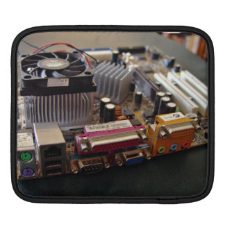 ATX motherboard view from connector edge iPad Sleeves