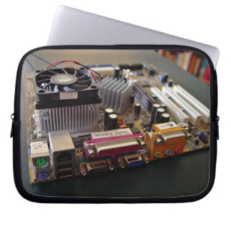 ATX motherboard view from connector edge Laptop Computer Sleeves