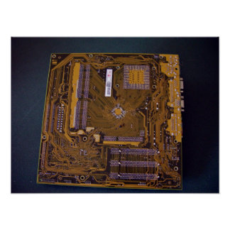 ATX motherboard view from solder side Poster