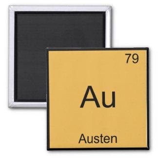 Au - Austen Funny Chemistry Element Symbol T-Shirt Magnet