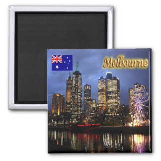 AU - Australia - Melbourne - City By Night Magnet