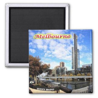 AU - Australia - Melbourne - Eureka Tower on Yarra 2 Inch Square Magnet