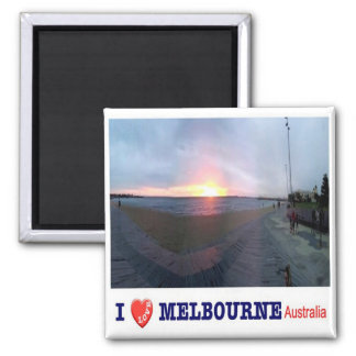 AU - Australia - Melbourne - Sunset - I Love Magnet