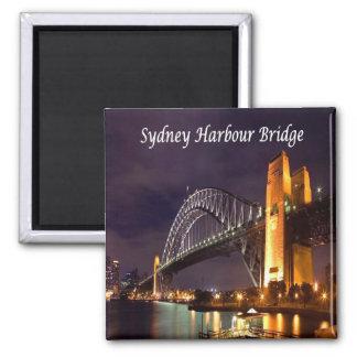 AU - Australia - Sydney - Harbour Bridg 2 Inch Square Magnet
