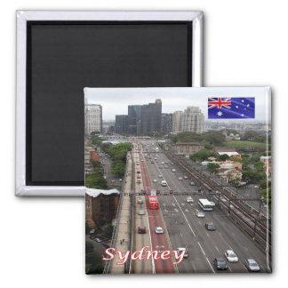 AU - Australia - Sydney - Harbour Bridge 2 Inch Square Magnet