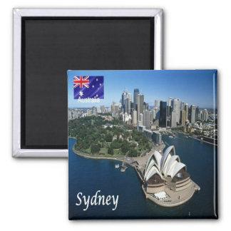 AU - Australia - Sydney - Panorama 2 Inch Square Magnet