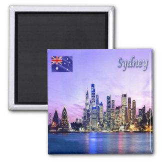 AU - Australia - Sydney - Skyline 2 Inch Square Magnet