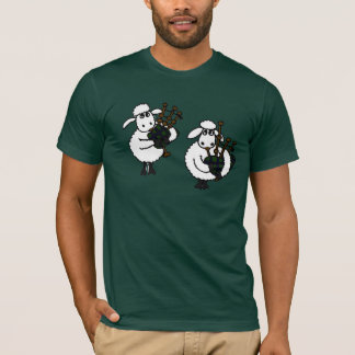 AU- Awesome Sheep Playing Bagpipes T-Shirt