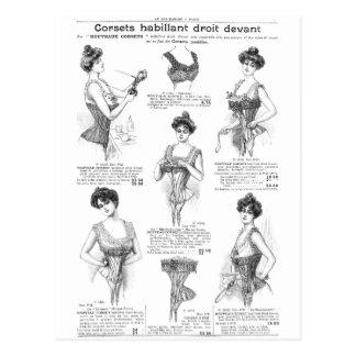Au Bon Marche Vintage French Corsets Postcard