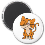 AU- Cute Orange and White Kitty Cat Magnets