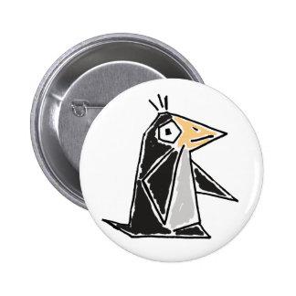 AU- Funky Penguin Cartoon Button