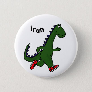 AU- Funny Jogging Dinosaur Button