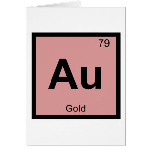 Au symbol cards greeting photo cards zazzle au gold chemistry periodic table symbol urtaz Choice Image