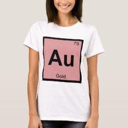 Au symbol t shirts shirt designs zazzle au gold chemistry periodic table symbol t shirt urtaz Gallery