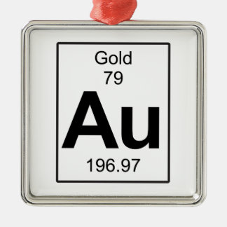 Au - Gold Metal Ornament
