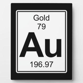 Au - Gold Plaque