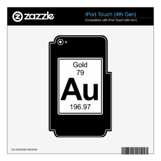 Au - Gold Skins For iPod Touch 4G