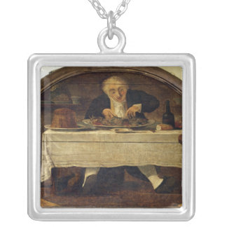Au Gourmand', shop sign for Corcellet Silver Plated Necklace