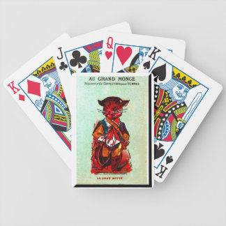 """Au Grand Monge~Kitty"" Bicycle Playing Cards"