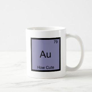 Au - How Cute Chemistry Element Symbol Funny Coffee Mug