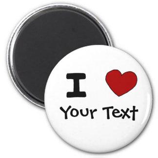 AU- I Heart Love Custom Design 2 Inch Round Magnet