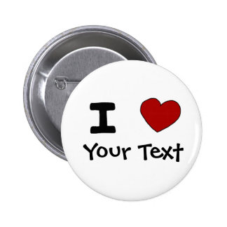 AU- I Heart Love Custom Design Pinback Buttons