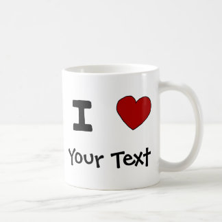 AU- I Heart Love Custom Design Classic White Coffee Mug