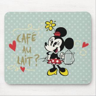 ¿Au Lait de Minnie el | Café del francés? Tapetes De Ratones