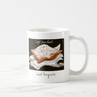 Au Lait y Beignets de Cafe Tazas De Café