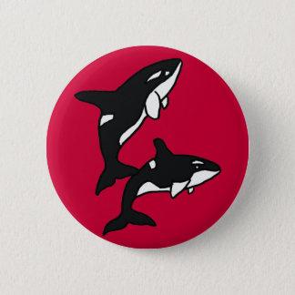 AU- Leaping Killer Whale Button