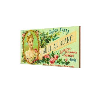 Au Lilas Blanc Soap LabelParis, France Canvas Print