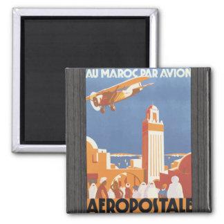 Au Maroc Par Avion Aeropostale Vintage Magnets
