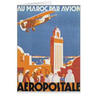 Au Maroc Par Avion Greeting Cards