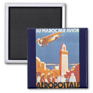 Au Maroc Par Avion Magnet