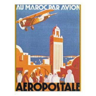 Au Maroc Par Avion Postcard