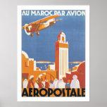 Au Maroc Par Avion Print