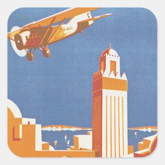 Au Maroc Par Avion Square Sticker