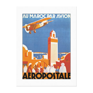 Au Maroc Par Avion - XL Canvas Print