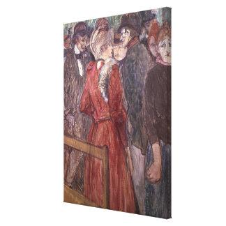 Au Moulin de la Galette, 1891 (w/c y aguazo) Impresión En Lona Estirada
