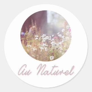 Au Naturel Classic Round Sticker