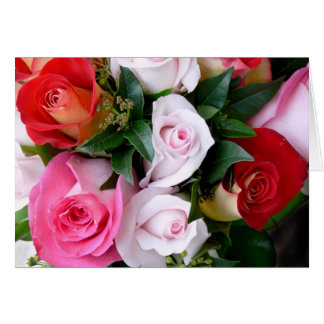 au nom de la rose greeting card