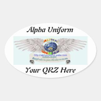 AU Oval Sticker