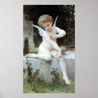 Au Papillon de Bouguereau - de L'Amour Poster