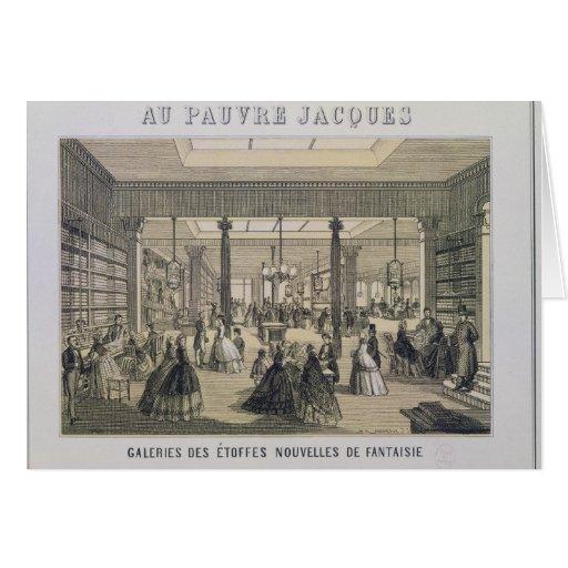 Au Pauvre Jacques: El departamento de la tela Tarjeta De Felicitación