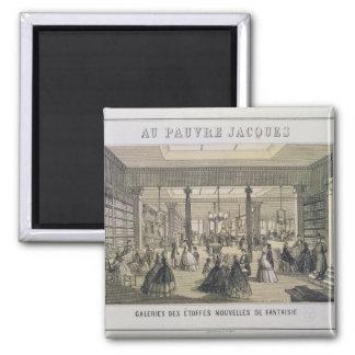Au Pauvre Jacques: The Fabric Department 2 Inch Square Magnet