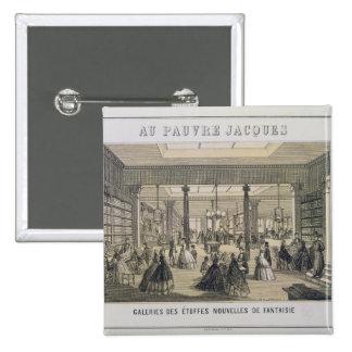 Au Pauvre Jacques: The Fabric Department Button