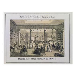 Au Pauvre Jacques: The Fabric Department Postcard