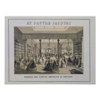 Au Pauvre Jacques: The Fabric Department Poster