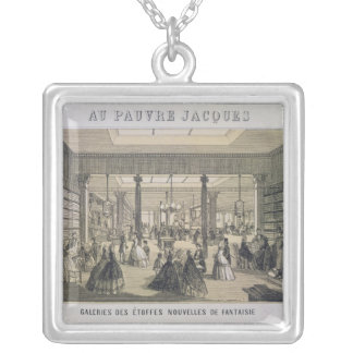 Au Pauvre Jacques: The Fabric Department Silver Plated Necklace