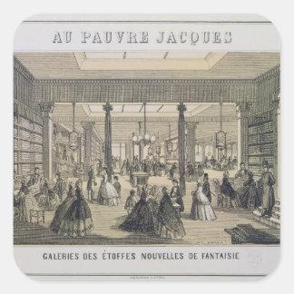 Au Pauvre Jacques: The Fabric Department Square Sticker